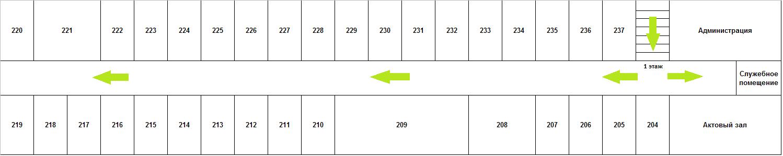 Схема 2 этажа Липецкой ГП №1: