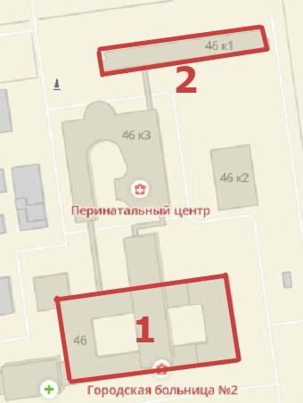 Схема корпусов Губкина 46 Больница 2 Белгород