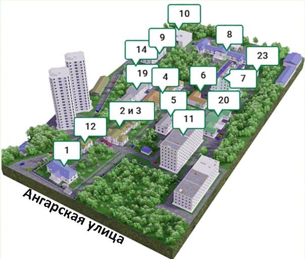 Схема территории Волгоградской областной клинической больницы № 1