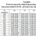 Расписание работы врачей лист 1