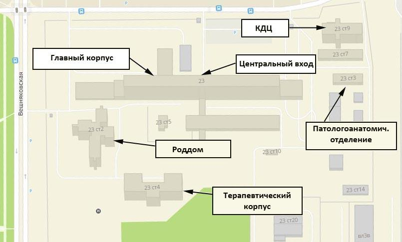 схема корпусов 15 больницы им Филатова