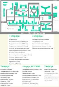 Схема территории КОКБ Кемерово